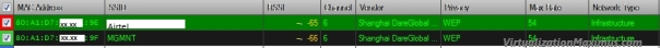 Inssider - SSID1 and SSID2 being Broadcasted by same CPE Device